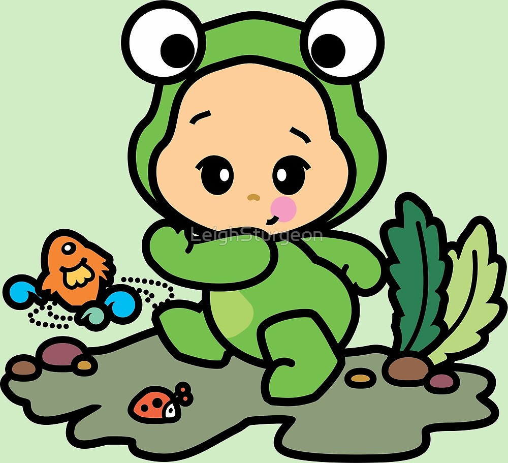 Pajamako Frog by LeighSturgeon