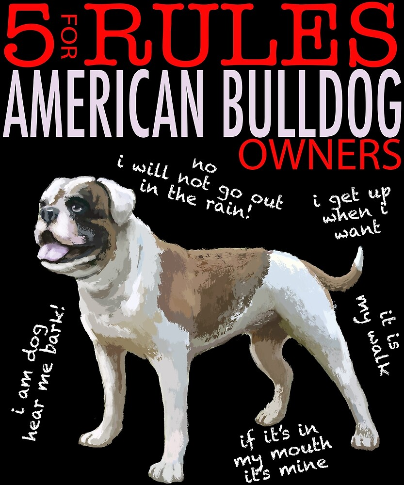 5 Rules for American Bulldog Owners by MichaelRellov