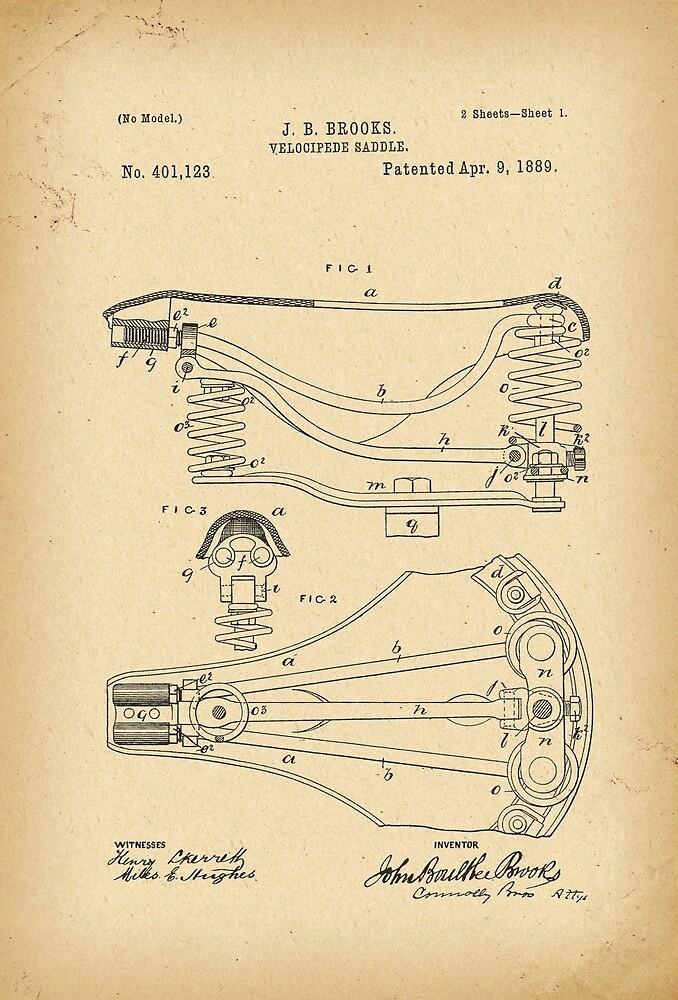 1889 Patent Bicycle saddle by Khokhloma