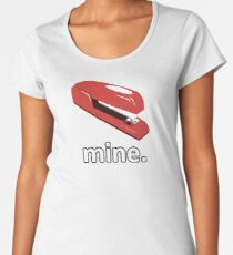 OFFICE SPACE STAPLER - 0206 Women's Premium T-Shirt