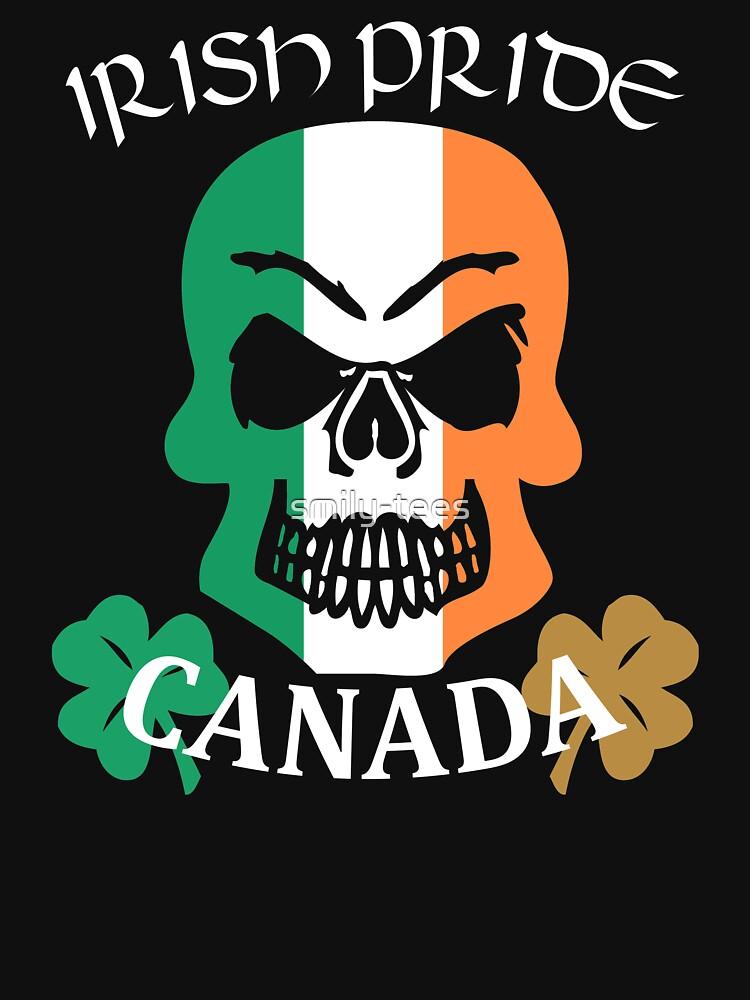 Canada Canadian Irish Pride Skull Shamrock Saint Patrick by smily-tees