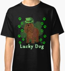 St Patricks Day Dog St Paddy Day Shamrock Paw Cocker Spaniel St Patrick Day Classic T-Shirt
