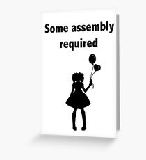 Some assembly required - BJD Greeting Card