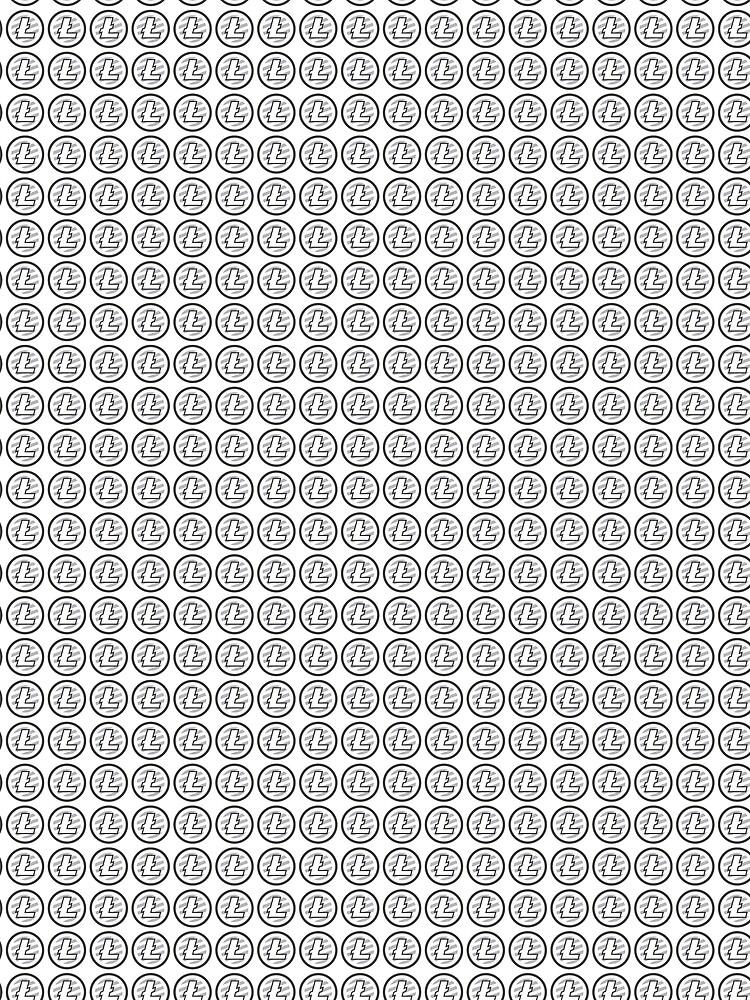 Litecoin LTC Pattern Crypto Coin Token Design by ThatMerchStore
