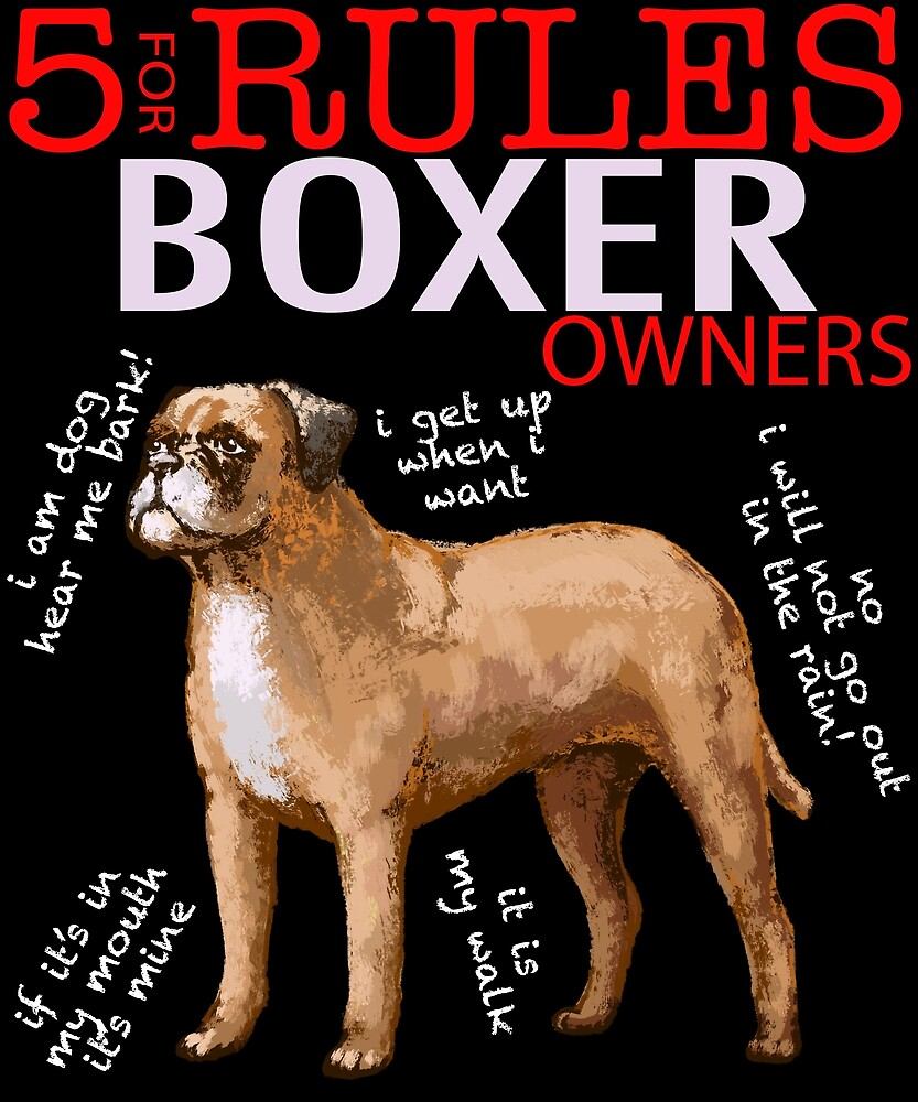 5 Rules for Boxer Owners by MichaelRellov
