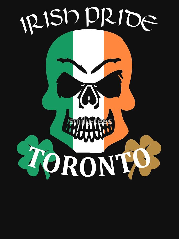Toronto Canadian Irish Pride Skull Shamrock Saint Patrick by smily-tees