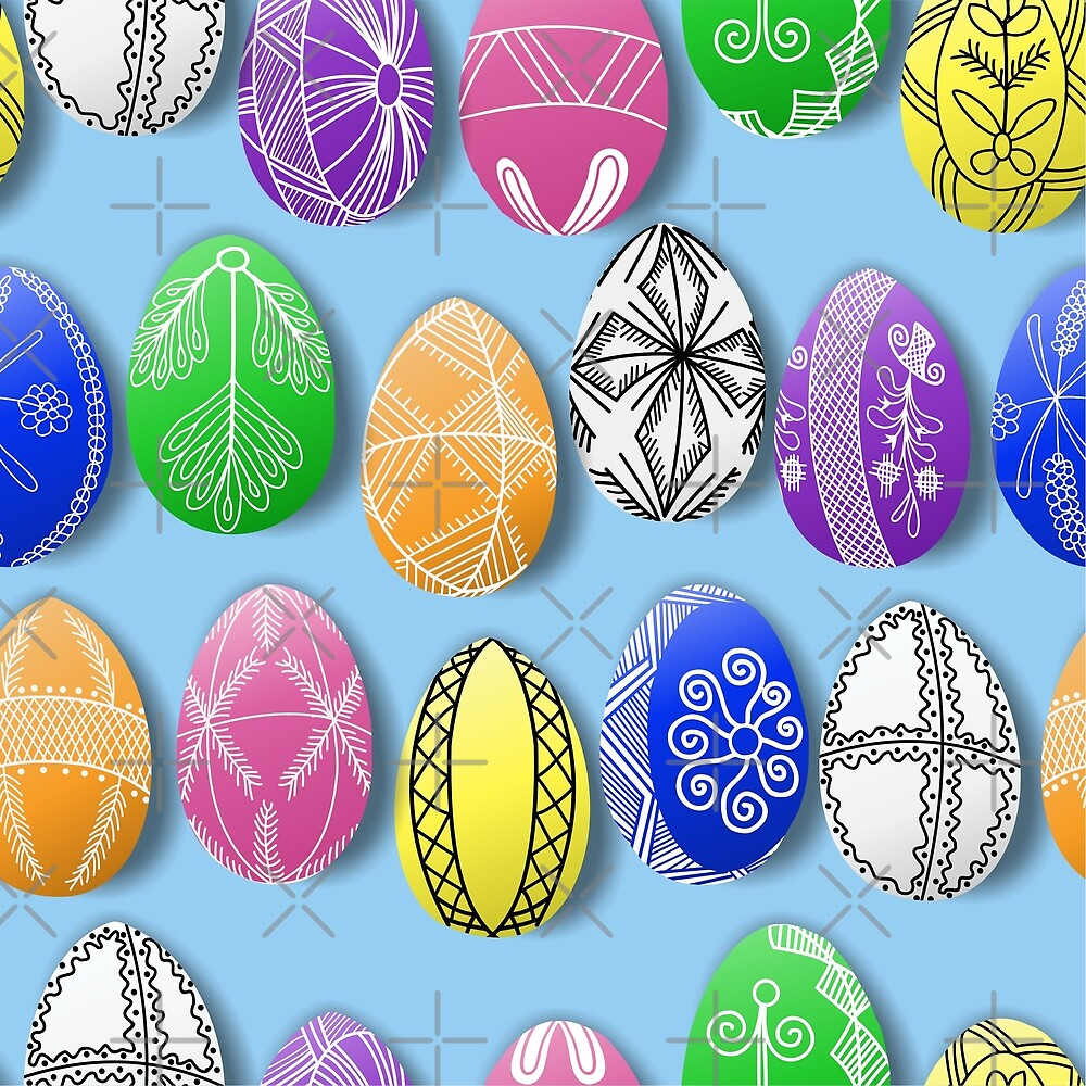 easter eggs pattern pisanki by B0red