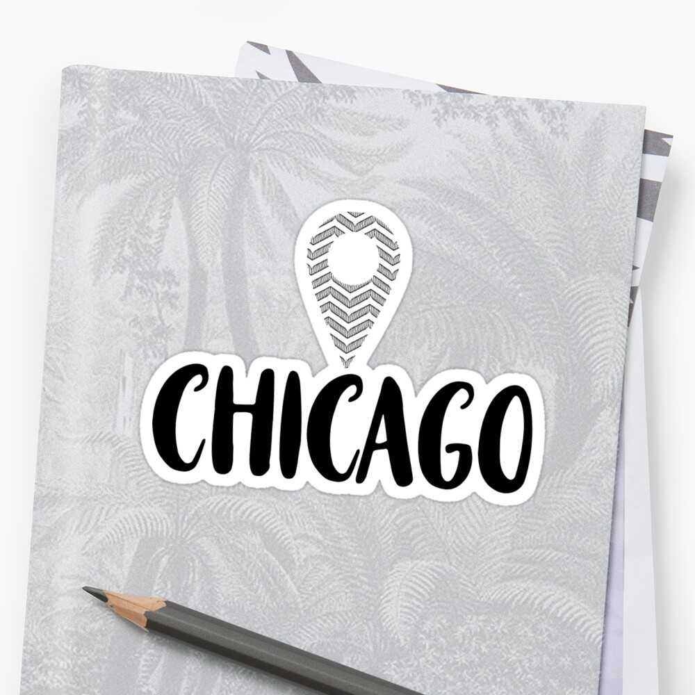 """Chicago """"Location Pin"""" Design by itsmebecca"""