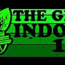 «El gran interior 1971 etiqueta engomada del mono» de AngryMongo