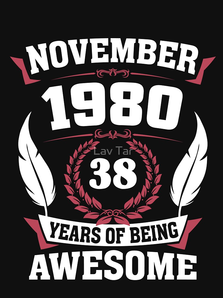 November 1980 38 years of being awesome by lavatarnt