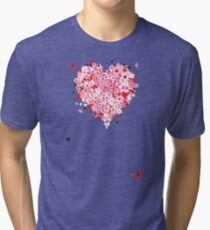 Floral heart for you Tri-blend T-Shirt