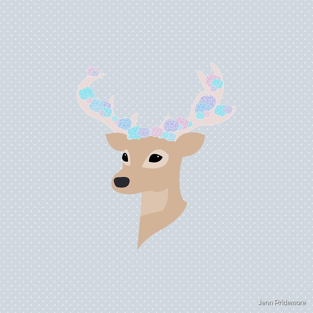 Floral Deer by Jennifer Pridemore