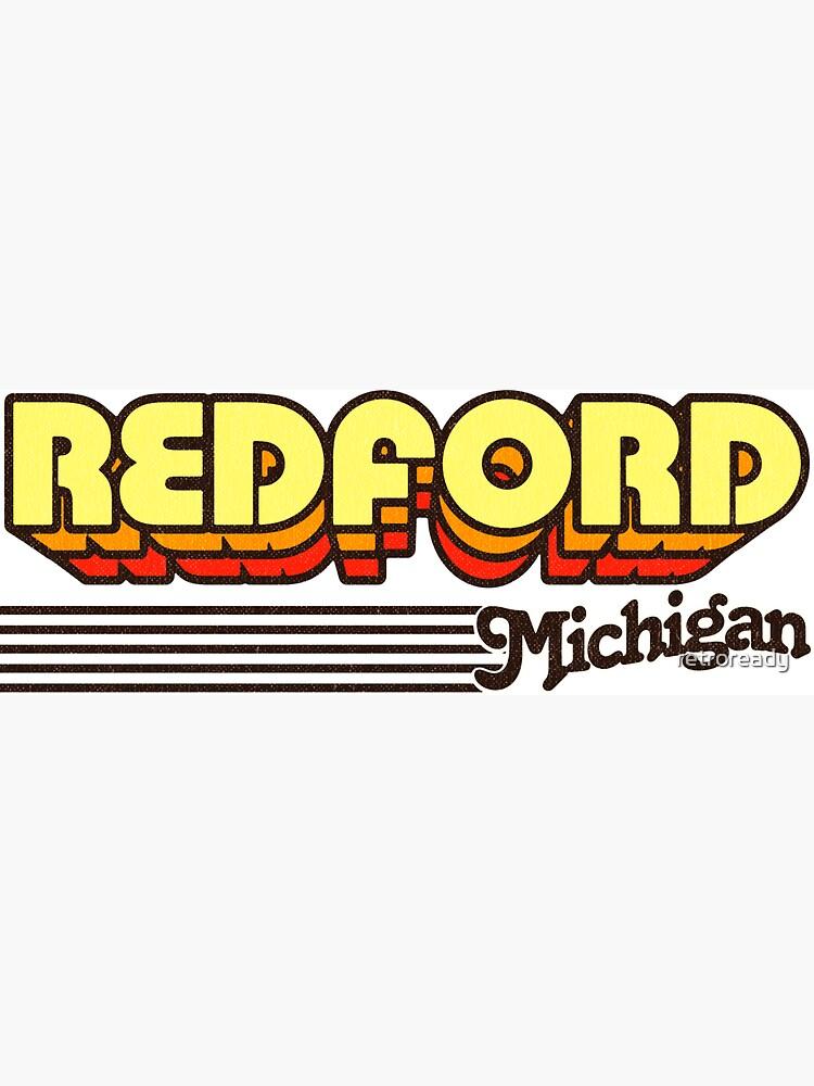 Redford, Michigan | Retro Stripes by retroready