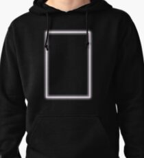 Pink Glowing Neon Rectangle Pullover Hoodie