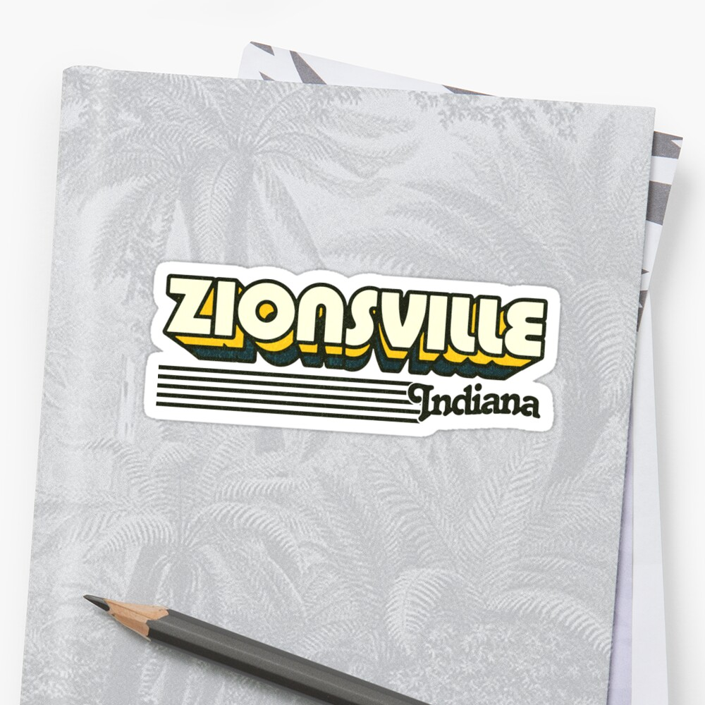 Zionsville, Indiana | Retro Stripes by retroready