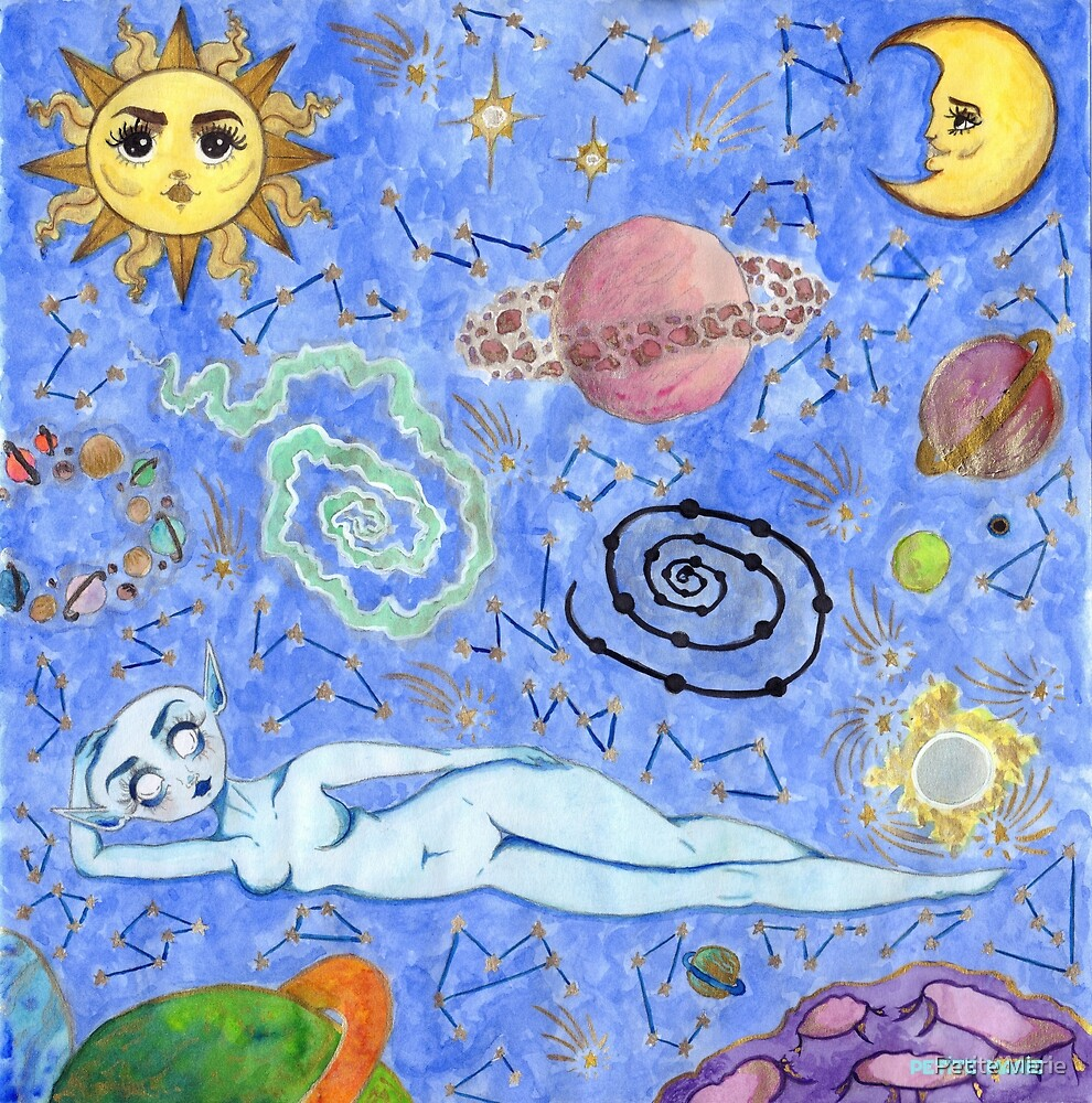 Creation of the universe by Petite Marie