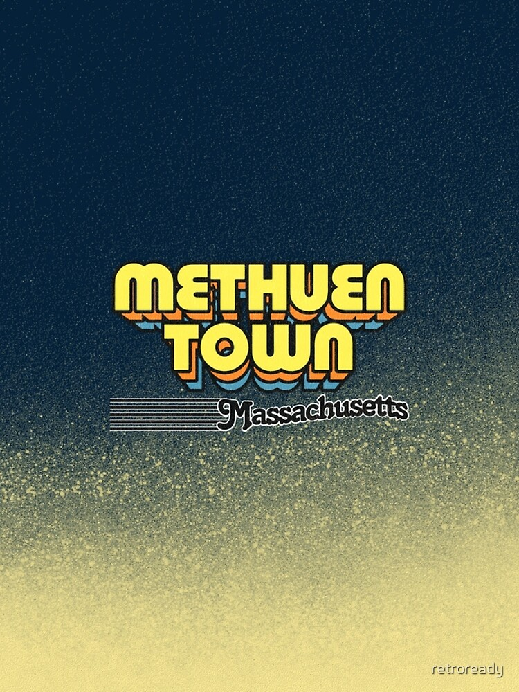 Methuen Town, Massachusetts   Retro Stripes by retroready