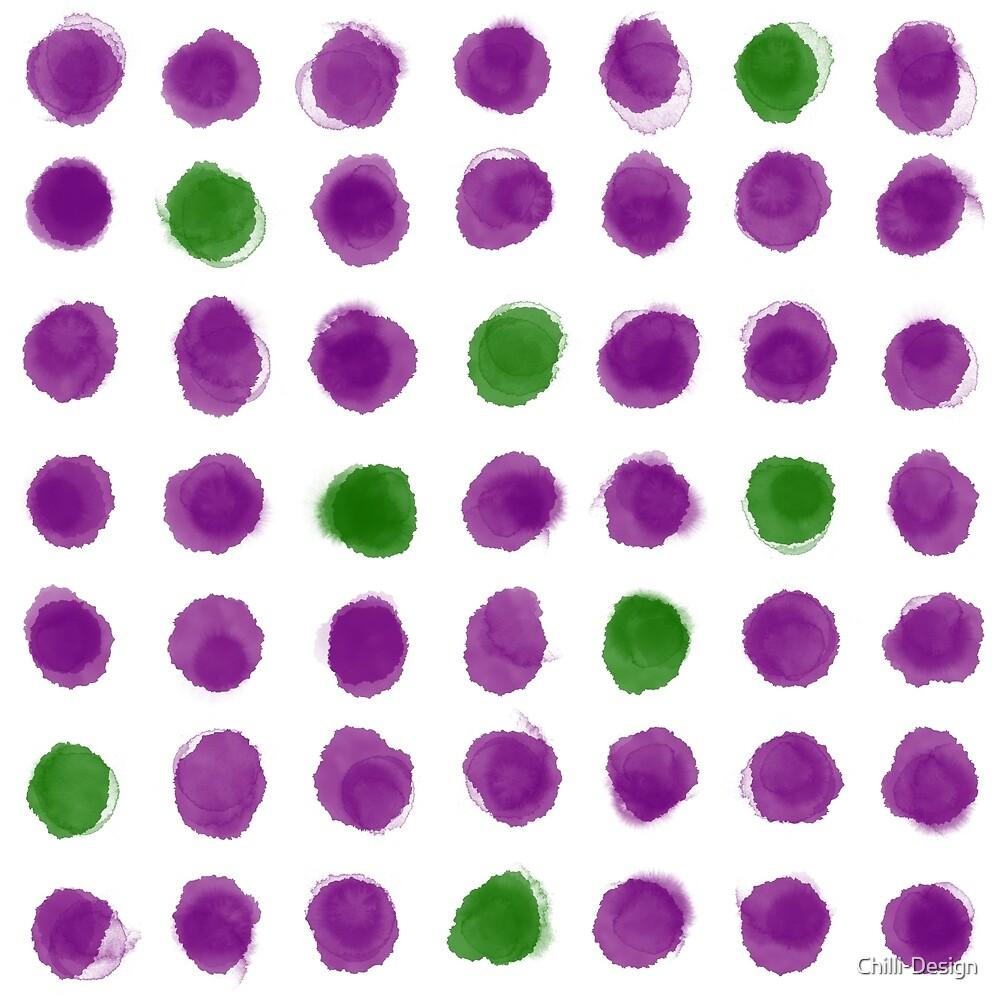 Purple Green Polka Dots by Chilli-Design