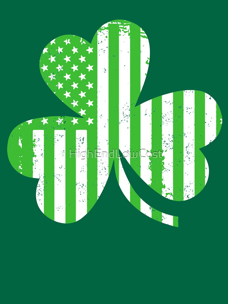St. Patricks Day Celebration American Clover Flag by HighEndLowCost