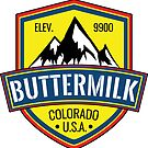 Skiing Buttermilk Colorado Ski Snowboard Aspen Snowmass by MyHandmadeSigns