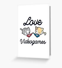 Love Videogames Greeting Card