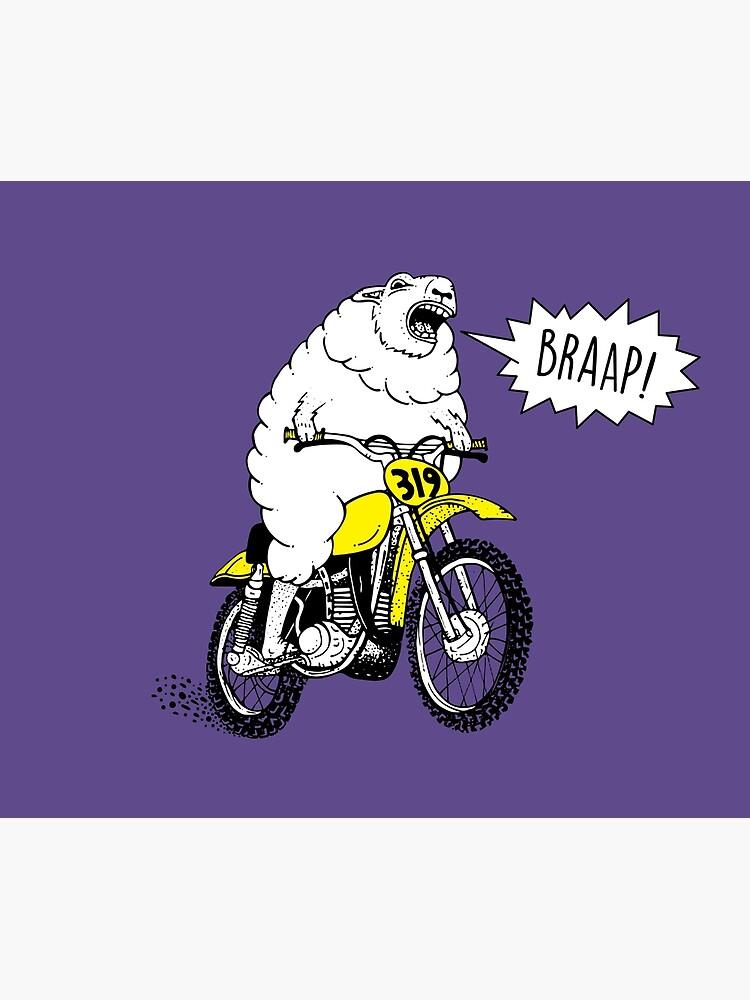 BRAAP Motocross Funny Dirtbike Comic Motorcycle T-Shirt   Canvas Print