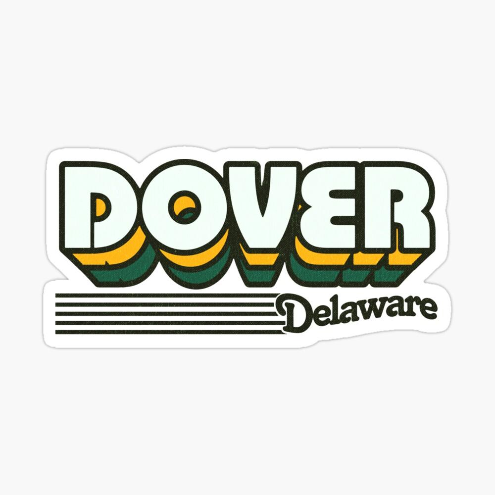 Dover, Delaware | Retro Stripes Sticker