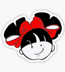 Tullulah with red ribbons Sticker