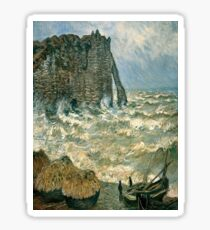 Stormy Sea in Étretat-Claude Monet Sticker