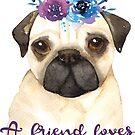 Ein Freund liebt zu jeder Zeit | Mops-Kunst | Bibel Vers von PraiseQuotes