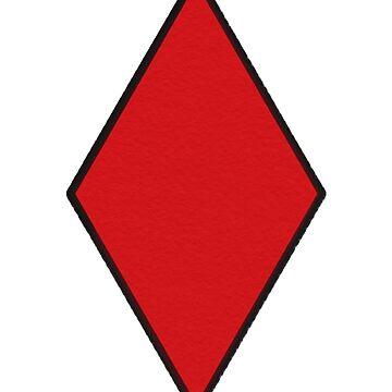 Red & Black Diamond Print  by elfiesdesigns