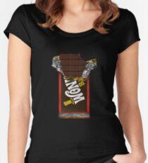 Wonka Chocolate Bar mit goldenem Ticket Tailliertes Rundhals-Shirt