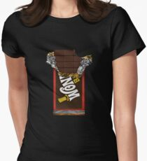 Wonka Chocolate Bar with Golden ticket Women's Fitted T-Shirt