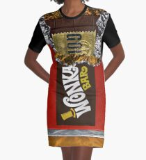 Wonka Chocolate Bar with Golden ticket Graphic T-Shirt Dress
