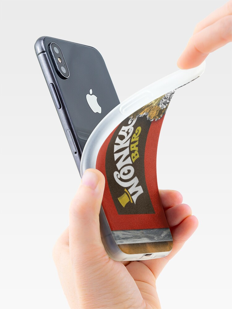 Alternate view of Wonka Chocolate Bar with Golden ticket iPhone Case & Cover