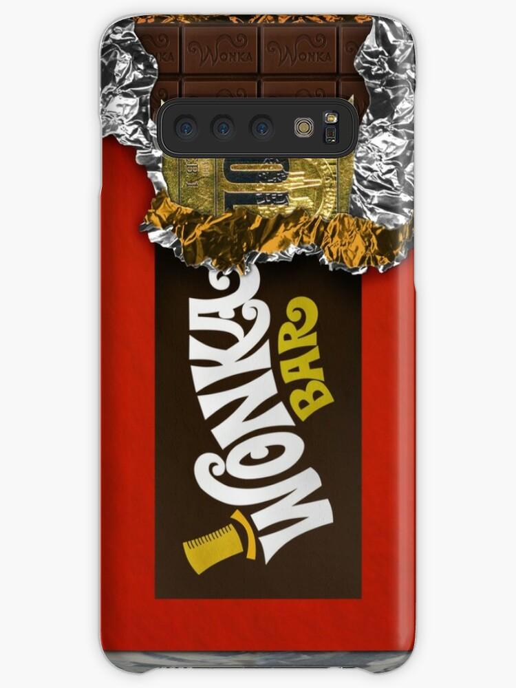 Wonka Chocolate Bar With Golden Ticket Caseskin For Samsung Galaxy By Galih Sanjaya Kusuma Wiwaha