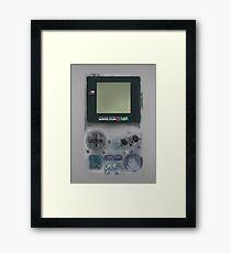 Classic transparent white grey mini video games Framed Print