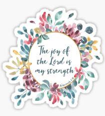 Die Freude des Herrn Bibelvers | Blumen Aquarell Sticker