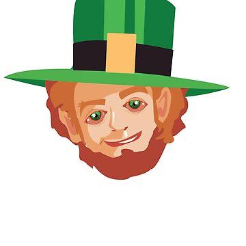 Highrish Funny Stoner Irish Pothead Leprechaun Funny St. Patrick's Day by teashorts