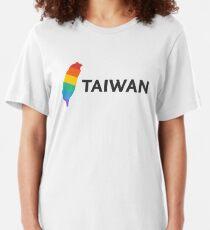 Taiwan LGBTQ+ Rainbow Design Slim Fit T-Shirt
