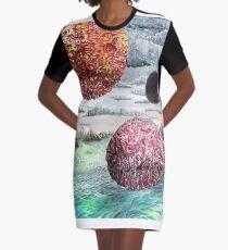 Three Worlds Graphic T-Shirt Dress