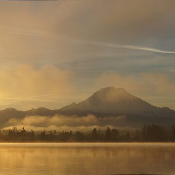 Rainier in the morning sun by marialberg