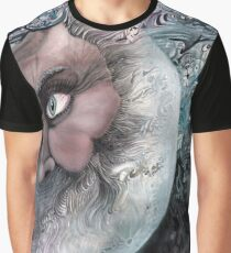 Moon in Man by Davol White Graphic T-Shirt