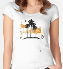 Summer holiday Women's Fitted Scoop T-Shirt