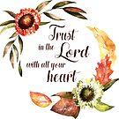 Vertraue dem Herrn von ganzem Herzen Bibelvers | Sprichwort von PraiseQuotes