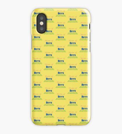 Mom of Boys iPhone Case