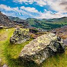 Quarry Steps Snowdonia by Adrian Evans