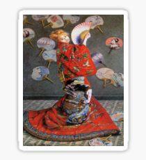 Camille Monet In Japanese Costume-Claude Monet  Sticker