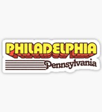 Philadelphia, Pennsylvania | Retro Stripes Sticker