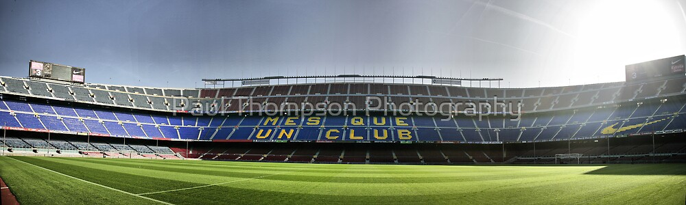 Nou Camp Panorama by Paul Thompson Photography